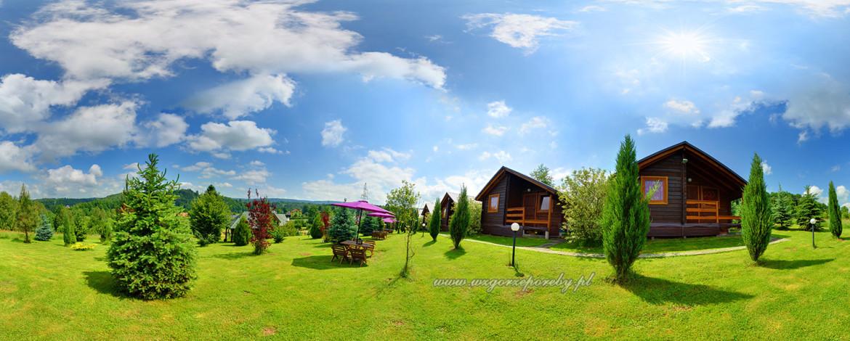 Wirtualna wycieczka po Wzgórzu Poręby - domki, noclegi nad Soliną w Bieszczadach